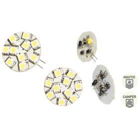 LAMPADINA G4 10 LED PIN CENTRALE - L. CALDA