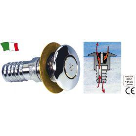 SFIATO OTTONE CROMATO PER TUBO 16mm