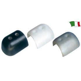 TERMINALE PROFILO PARABORDO BIANCO  PVC  DA 60 mm