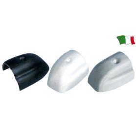 TERMINALE PER PROFILO PARABORDO PVC BIANCO  mm.45