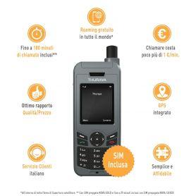 TELEFONO THURAYA  XT-LINE COMPLETO DI SIM NOVA SILVER
