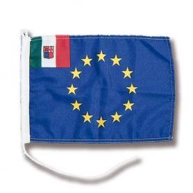 BANDIERA  EUROPA-ITALIA 20x30cm