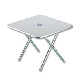 Tavolinetto Salotto Quadrato Pieghevole Con Decoro Marino 60 X 60 H.50