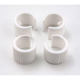 Kit Piedini Di Ricambio Poltroncine Tonda 4pz colore bianco